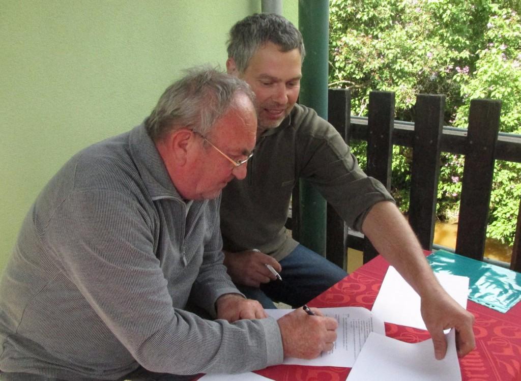 Podpis pachtovní smlouvy