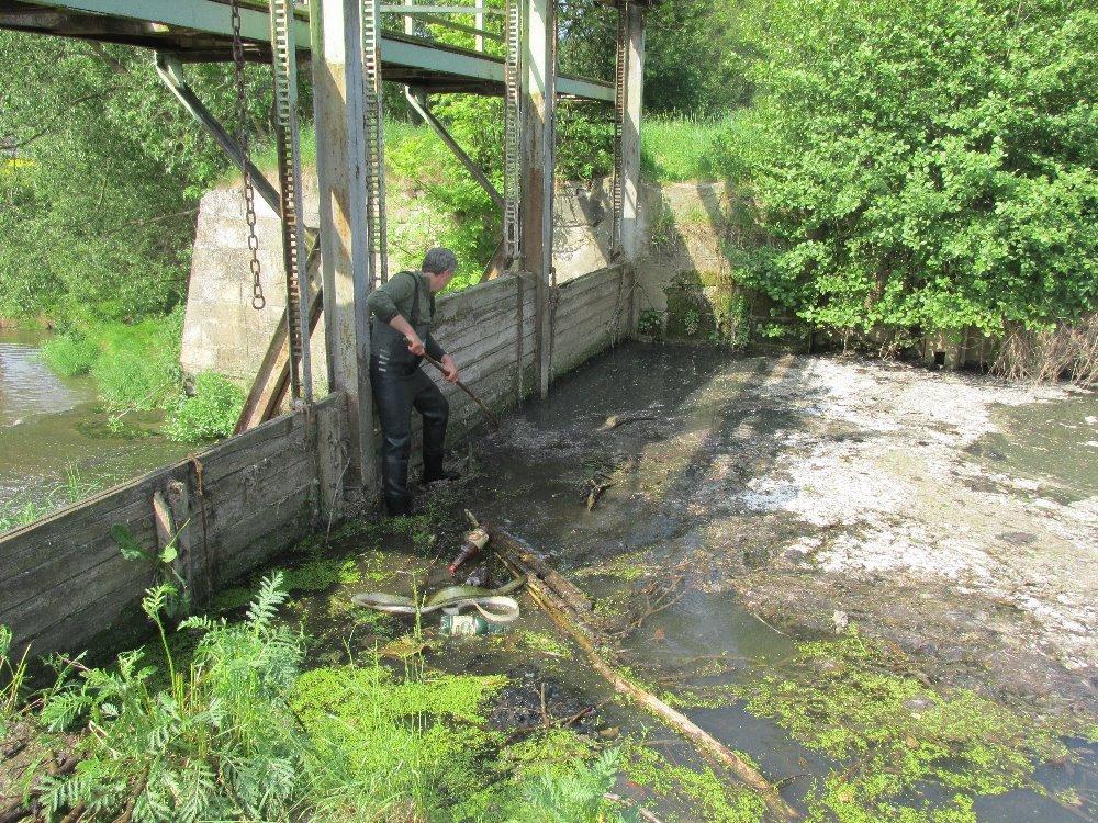 Rybářský spolek vyčistil splav v Ráječku na řece Svitavě