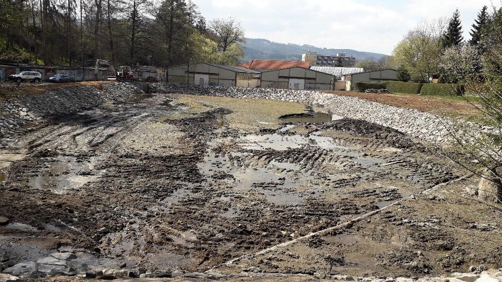 Oprava rybníku Sloupečníku – hotovo