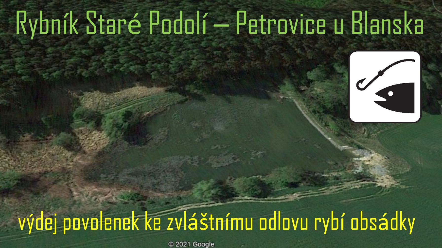 """Lov ryb na rybníku """"Staré Podolí"""" v Petrovicích u Blanska"""